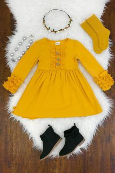 Shop cute kids clothes and accessories at Sparkle In Pink! With our variety of kids dresses, mommy + me clothes, and complete kids outfits, your child is going to love Sparkle In Pink! Baby Outfits, Little Girl Outfits, Little Girl Fashion, Toddler Girl Outfits, Little Girl Dresses, Toddler Fashion, Kids Fashion, Toddler Dress, Fashion 2020