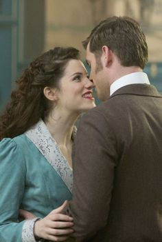 Oliver Jackson-Cohen and Jessica De Gouw (Harker and Mina) in Episode Four of Dracula TV Series - sky.com/dracula