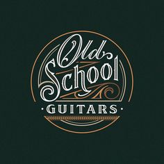 Logo design for Old School Guitars by Jack Sturm #lettering #handlettering #typography #logo #logotype #graphicdesign #vector #illustrator #calligraphy #logoinspirations #oldschool #guitars