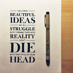We all struggle executing on our ideas and turning them into reality—it's not easy, but please embrace that struggle.