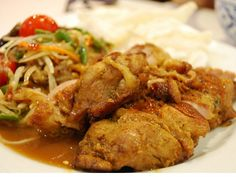 Gai Yang (Thai Broiled or Grilled Marinated Chicken)