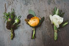 Lovely boutonnieres Madison Wedding Flowers