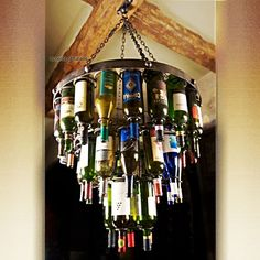 Accents of Salado.net After-the-Party Ceiling Rack Part Number WNE.402 $729.00 Dark Antiqued Finish 22.5T X 29.5D Holds 38 of your favorite wine bottles. Includes Hanging Bracket