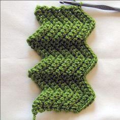 Learn the Chevron Stitch, aka Ripple Stitch or a great Afghan Stitch.
