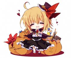 Tags: Anime, Chocolate, Candy, Pocky, Halloween, Touhou, Cookies
