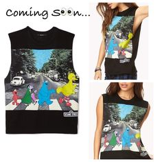 Forever 21 Black Sesame Street Muscle Tee Coming Soon! Interested? Comment below... Price is not listed as of right now. Forever 21 Tops Muscle Tees