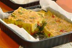 Ricetta Frittata al forno con patate e verdure - Antonella Clerici