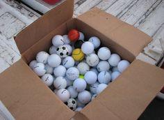 GOLF BALLS: Repurposing Ideas - 5 New Uses For Golf Balls  Like VASE FILLER; CRAFT ANIMALS; GOLF BALL SNOWMEN; EMERGENCY SINK PLUG & WALL ART
