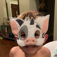 Kids Cat Mask - Felt Mask - Kitty - White , Black - Costume - Dress Up - Halloween - Pretend Play Preschool Games, Toddler Preschool, Masquerade Mask Template, Panda Lindo, Mascaras Halloween, Bat Mask, Dinosaur Mask, Felt Kids, Animal Masks