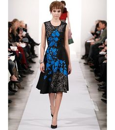 Oscar de la Renta - floral and midi, hitting all this seasons trends! Autumn/Winter 2014-15 #AW14 #chichilondon #chichiclothing