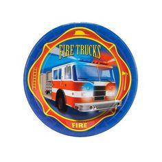 Fire Trucks Dessert Plates