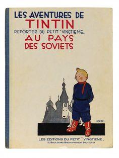 Books & Music : Tintin au pays des soviets | Blouin Boutique  Sotheby's - Bande Desinee  July 4, 2012    1929, édition numérotée 477/ 500 Copyright : @HERGÉ-MOULINSART.2012