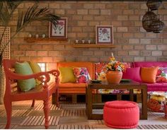 Tijolo: Paredes interiores em tijolo - Decorar Ideias