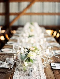 rustic romance Photography by Erich McVey Photography / http://erichmcvey.com, Coordination by Luxe Event Productions / http://LuxeProductionsNW.com, Floral Design by Vibrant Table / http://vibranttable.com