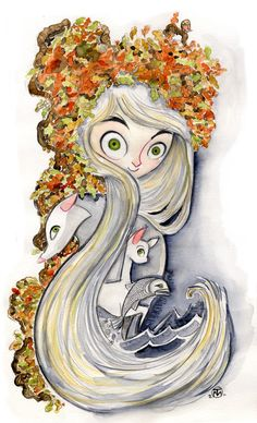 Secret of Kells Aisling Watercolor