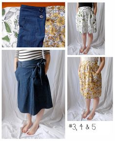 Denim skirt with buttons on the outside.