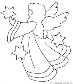 pergamano - Page 18 Christmas Angels, Christmas Art, Christmas Projects, Christmas Ornaments, Christmas Applique, Christmas Embroidery, Applique Patterns, Applique Quilts, Applique Templates