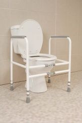 Height and Width Adjustable Toilet Frame