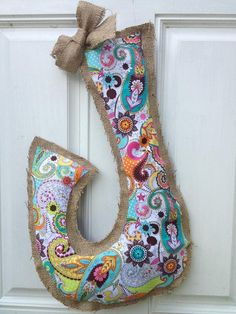 Personalized Burlap Door Hanger