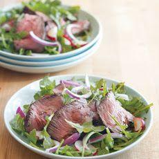 Mustard-Peppercorn Steak and Arugula Salad