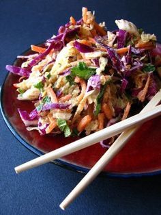 Spicy Sweet Asian Slaw Recipe (Thai)    Great alone or on a burger!