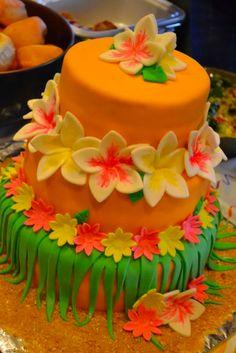 50th Birthday Party Cake! Happy Luau!