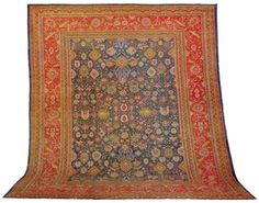 MAHAL CARPET  West Persia, 20th Century  Approximately 15 ft. 1 in. x 13 ft. 4 in. (460 x 406 cm.) I Christie's Sale 1682