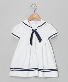 White Sailor A-Line Dress - Infant, Toddler & Girls   Daily deals for moms, babies and kids