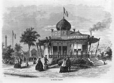 The central 'Imperial Pavilion' of the 1867 World Fair in Paris showed decidedly 'Eastern' features, and the Prussians submitted what they called a 'Moorish kiosk'. Picture: Deutsches Museum.