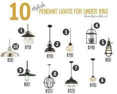 10 Stylish Pendant Lights for Under $150