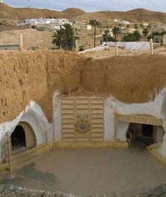 "Matmata, Tunesia-When ""Hotel Sidi Driss"" became famous for being chosen for the 1976 movie, ""Star Wars,"" as Luke Skywalkers childhood home on Tatooine, it became famous. Berbers live in this tiny subterranean village, as it keeps them cool in the extreme heat and guards them from the horrendous sandstorms."