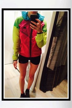 Ellie Goulding wearing a multicolor Nike Tech Windrunner on Instagram (May 20, 2014).