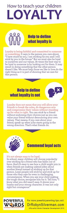 How To Teach Your Children Loyalty #powerfulwords #drrobyn #parenting #Parenting101