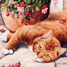 Кошки ТРИ / Декупаж / Картинки для декупажа - Cats - Gatos