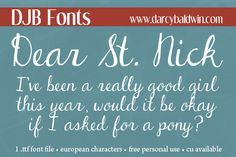 Want the perfect font for your Christmas newsletter? Grab DJB Dear St. Nick for free (personal use only) from Darcy Baldwin Fontography!