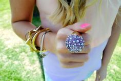 bold ring and pastels