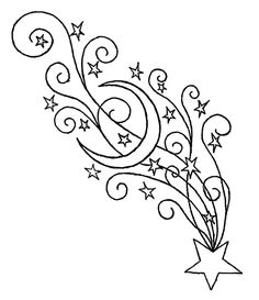 Shooting Star by shatteredemoheart on DeviantArt - pochoir Shooting Star Drawing, Shooting Star Tattoo, Shooting Stars, Vine Tattoos, Star Tattoos, Body Art Tattoos, Moon Tattoos, Celtic Tattoos, Sleeve Tattoos