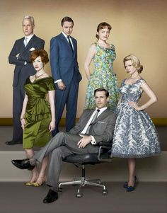 If you decide to come as Mad Men, you can't do better than this.  Just remember the martini glass