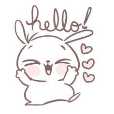 MarshMallow Puppies - Stickers dos criadores Cute Bear Drawings, Kawaii Drawings, Easy Drawings, Bunny Art, Cute Bunny, Doodles Bonitos, Panda Mignon, Cute Doodles, Line Sticker