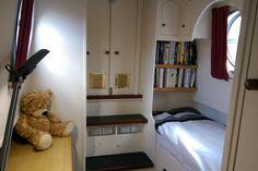 Single bedroom at rear of boat