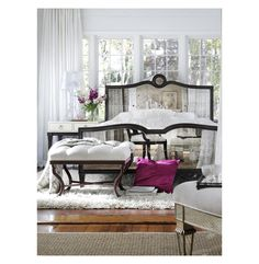 Grayson Espresso Luxe Mirrored Hollywood Regency King Bed   eBay