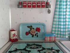 Vintage Decorated Travel Trailers | ... and Two Red Roses - Vintage Travel Trailer Decor - Tin Can Classifieds