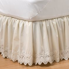 Home Classics Eyelet Bedding Accessories - from KOHLS - so inexpensive yet beautiful and great quality Owl Bedding, Ruffle Bedding, Daybed Covers, Victorian Bed, Cal King Bedding, Ruffle Bed Skirts, Bedding Sets Online, House Beds, Curtain Designs