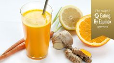 """Turmeric Juice: Orange, carrot, coconut water and agave nectar balance the root's natural bitterness, while lemon and ginger give it a lift. You might make it your daily """"orange"""" juice, if not for turmeric's anti-inflammatory and antibacterial benefits, then for its taste."""