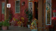 Fall decor on the porch