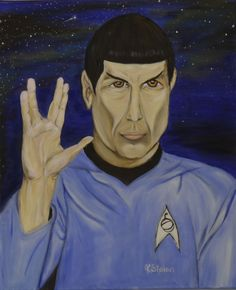 Spock oil on canvas Anne Karin Stølan Spock, Oil Paintings, Oil On Canvas, Movies, Movie Posters, Fictional Characters, Art, Art Background, Films