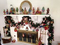 Very nice needlepoint display, lots of ornaments and Kelly Clark trees finished by It's Done, by Deborah.