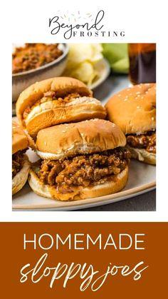 Beef Recipes, Cooking Recipes, Beef Sandwich, Sandwich Recipes, Easy Dinner Recipes, Easy Meals, Homemade Sloppy Joes, Croatian Recipes, Hamburg