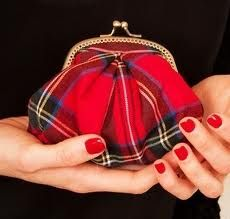 lovely plaid coin purse