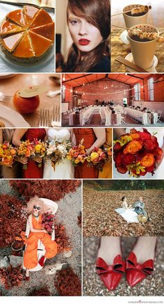 orange and red wedding colors | burnt orange color theme ...